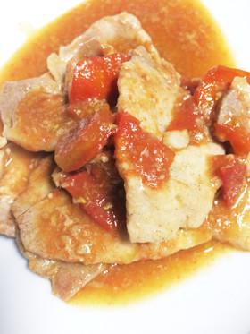 簡単さっぱりトマトと豚の生姜焼き