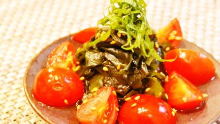 ☆わかめとプチトマトの中華風簡単酢の物☆