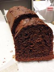 *サラダ油で濃厚ココアパウンドケーキ**の写真
