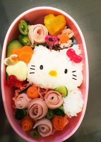 簡単 可愛い♡キティちゃん キャラ弁
