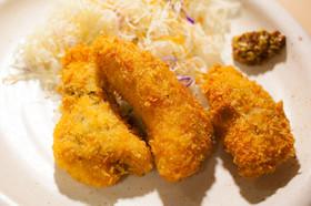 焼きヨーグルトを挟んだ鶏のささみフライ