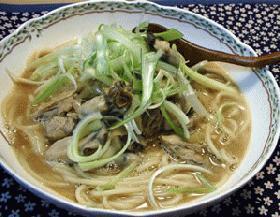 牡蠣の土手スープスパゲティ