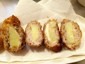 豚 こま肉 と チーズ カツレツ