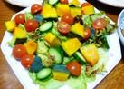 かぼちゃとミニトマトの彩りサラダ