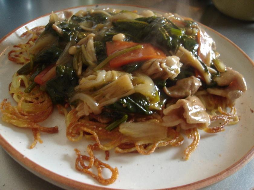 カリカリあんかけ中華麺♪