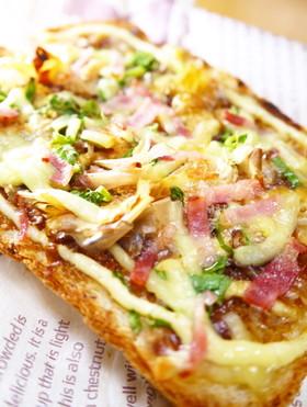 朝食&ランチ♪お好み焼き風チーズトースト