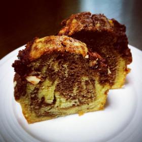 バター不使用!マーブルパウンドケーキ