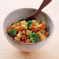 野菜と大豆のトマトの煮びたし