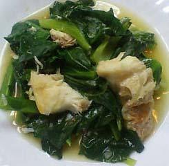 小松菜と白身魚のみぞれ煮