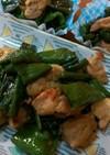 パパッと簡単♡万願寺唐辛子と鶏肉の甘辛煮