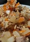 豚挽き肉・大根のオイスターキムチ炒め