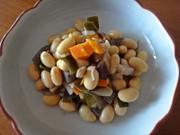 圧力鍋で大豆の五目煮の写真