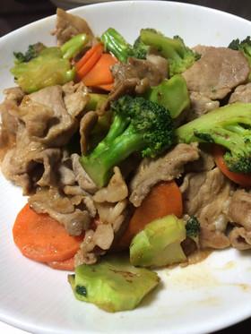 簡単!豚肉とブロッコリーの中華炒め
