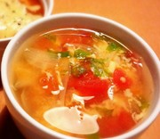 トマトの入った具だくさんスープ( ^^)の写真