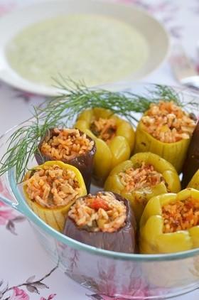 トルコ料理☆夏野菜でドルマ