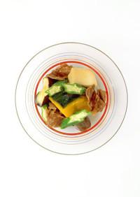 【ヘルシー】凍り豆腐と夏野菜の煮もの