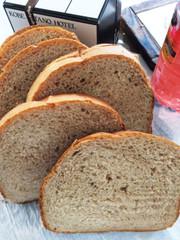 HBで作るいちごジャム入りふんわり食パンの写真