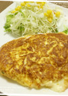 サラダチキンのチーズオムレツ