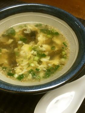 すりごまが香る☆わかめ卵スープ