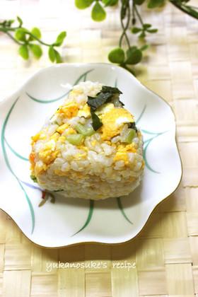 高菜と卵のおにぎり