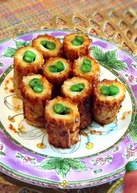 冷凍可★お弁当に!竹輪とインゲンの甘辛焼