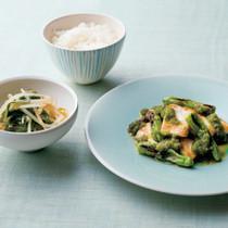かじきの塩焼き緑酢がけ定食