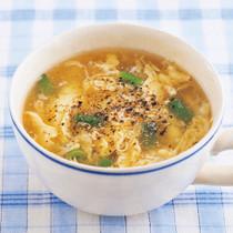 いんげんのかきたまスープ