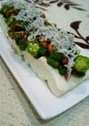 夏バテに冷やっこ!豆腐とオクラ納豆