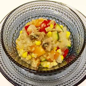 キヌアと夏野菜のスープリゾット