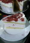 《簡単》イチゴムースとヨーグルトのケーキ