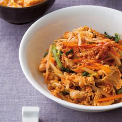 豚肉と野菜のコチュジャンナムル