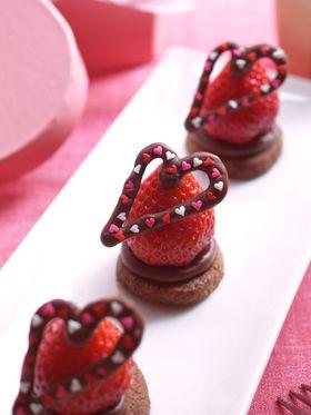 バレンタインにチョコっと贅沢いちご