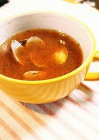 まるごとトマトと紫蘇のスープ