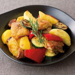 チキンとカラフル野菜のローズマリー焼き