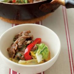 牛肉と野菜の重ね蒸しみそ風味