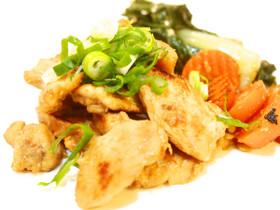 鶏肉のワサビ醤油炒め〜レモン風味