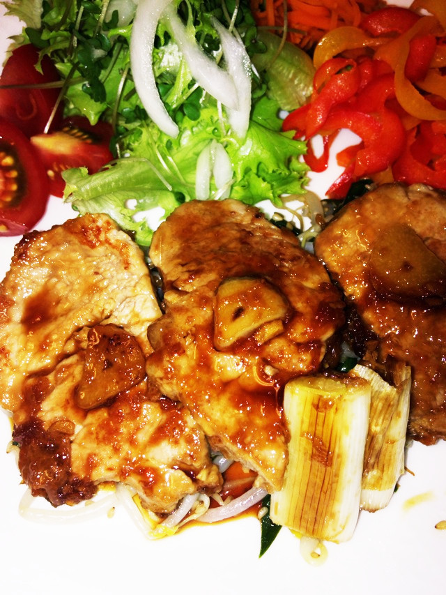 豚ヒレ肉のスタミナ焼き
