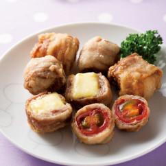 豚肉のミニトマト&チーズ巻き揚げ