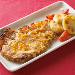 豚肉とれんこんの塩麴みそ焼き
