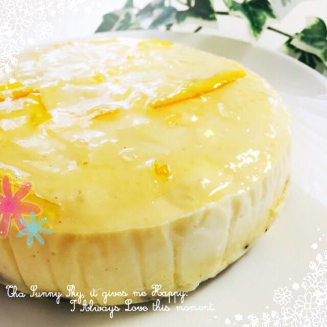 水切りヨーグルトでレアチーズ風ケーキ