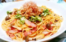 ◆栄養たっぷり!オクラと納豆のスパゲティ