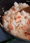 新生姜と塩鮭のご飯