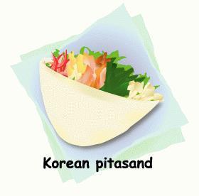 ビビンぱん?韓国風ピタサンド★サンドイッチ弁当⑥