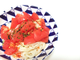 簡単!トマトとポン酢でさっぱり素麺