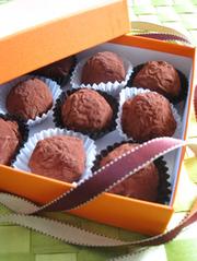 市販品活用!オレンジトリュフチョコレートの写真