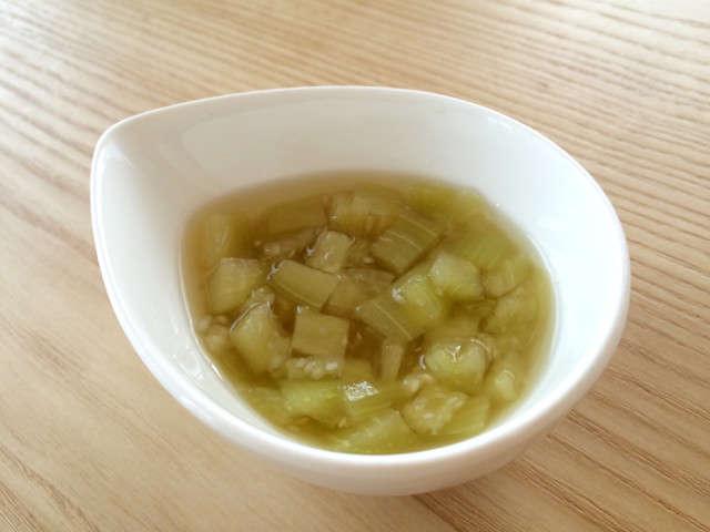 【離乳食中期〜】冷凍★茄子の出汁煮