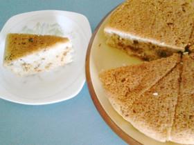 豆乳と梅酒の実ケーキ♪中フライパン