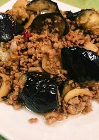 簡単⭐茄子と挽き肉のニンニク醤油炒め