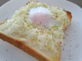 速攻!朝ご飯!!巣ごもり卵トースト