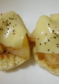 美肌になれる♡桃のおかずトースト